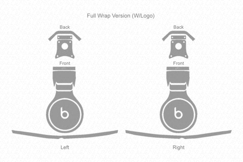 Beats Pro Wired Headphones 2012 Skin Cutting Template