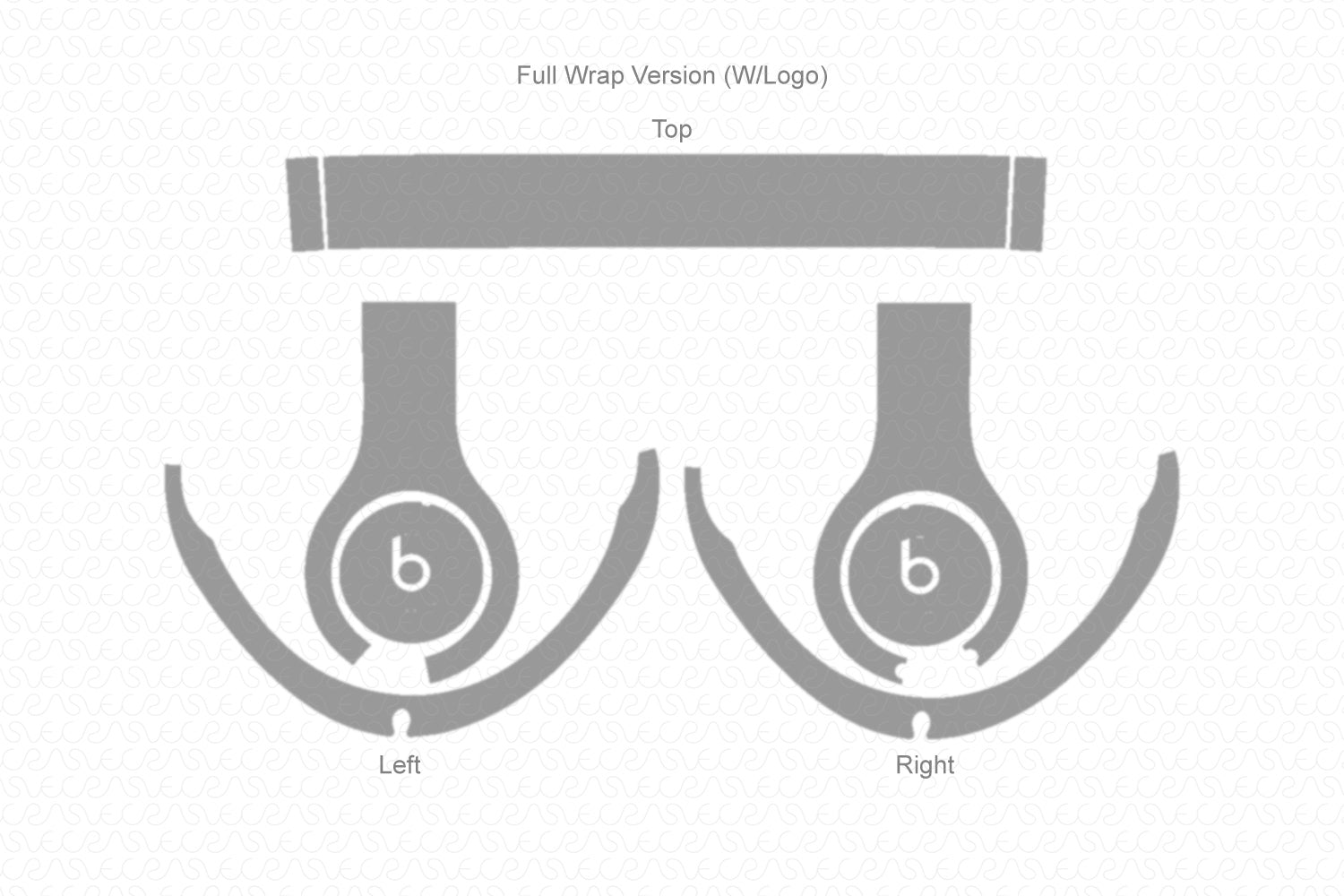 Beats Studio 3 Wireless Headephones (2018) Skin Cutting Template