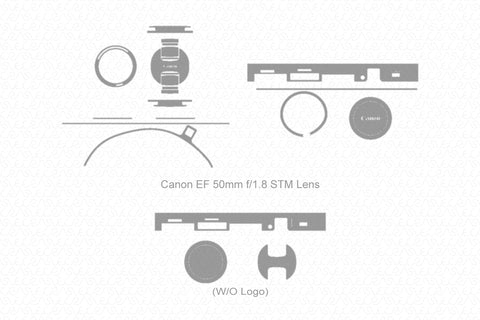 Canon EF 50mm F 1.8 STM Lens (2015) Skin Vector Template