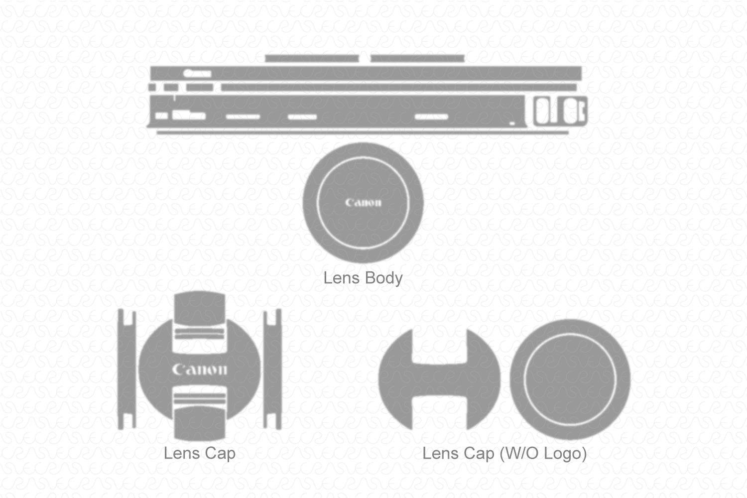 Canon EF-S 18-55mm f/4-5.6 IS STM Lens 2017 Skin Vector Template