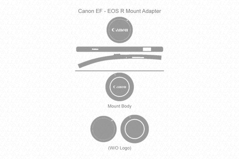 Canon EF-EOS R Mount Adapter 2018 Skin Vector Template