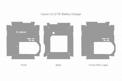 Canon LC-E17E Battery Charger Wrap Template Cut File