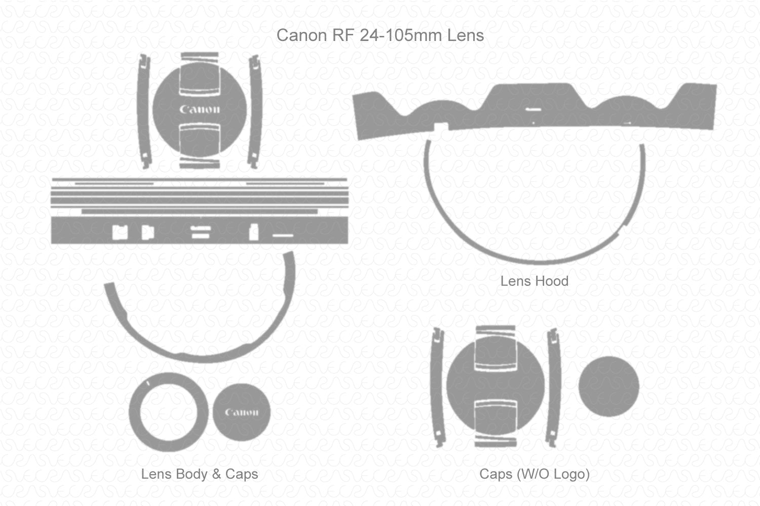 Canon RF 24-105mm f/4 L IS USM Lens 2018 Skin Vector Template