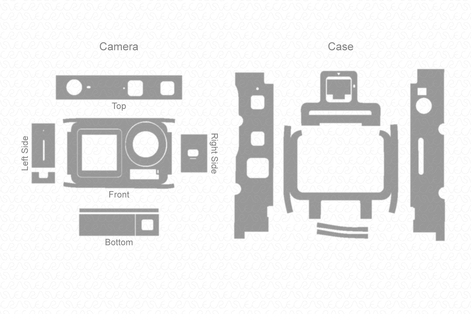 DJI Osmo Action Camera (2019) Skin Vector Template