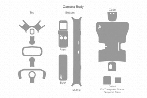 DJI Osmo Pocket Gimbal (2019) Skin Vector Template