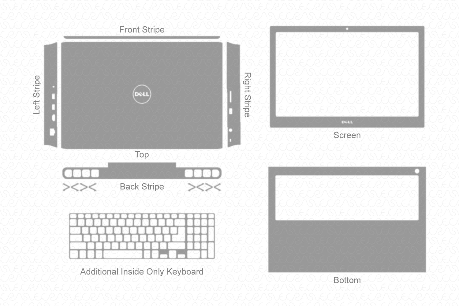 Dell Inspiron 15 7000 (2017) Skin Template Cut File