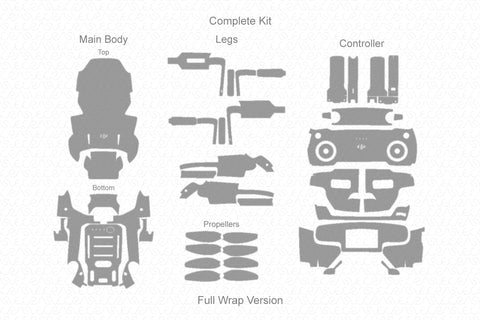 DJI Mavic Mini 2019 Skin Vector Template