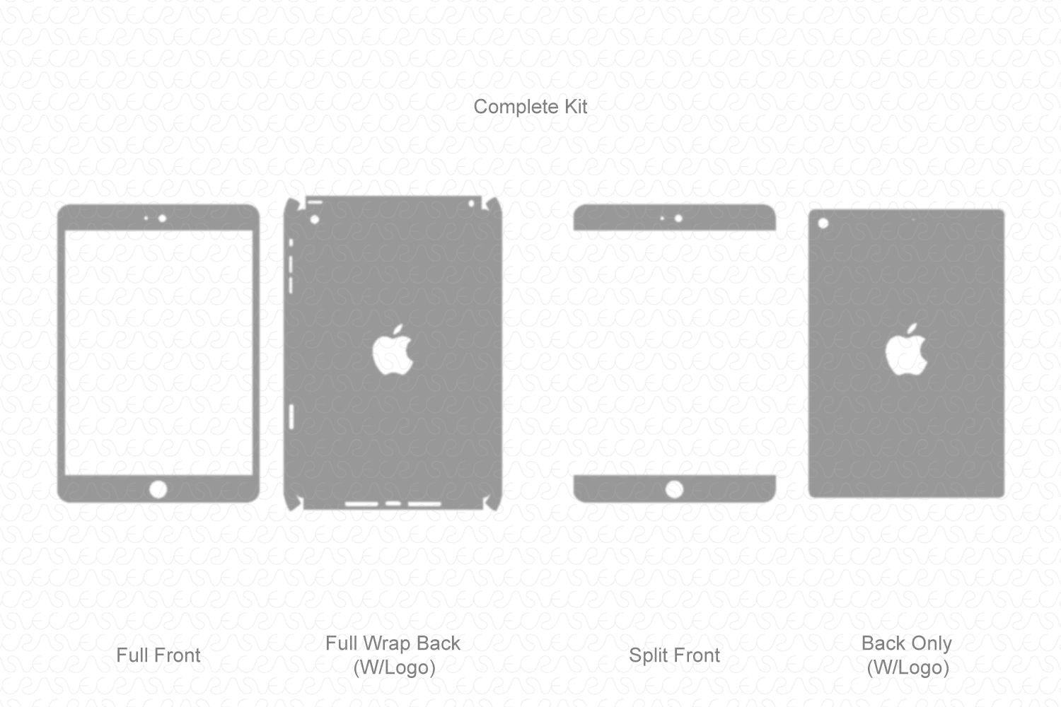 iPad Mini 2 (2013) Vector Cutline Template