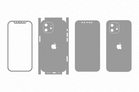 iPhone 12  (2020) Skin Template Vector