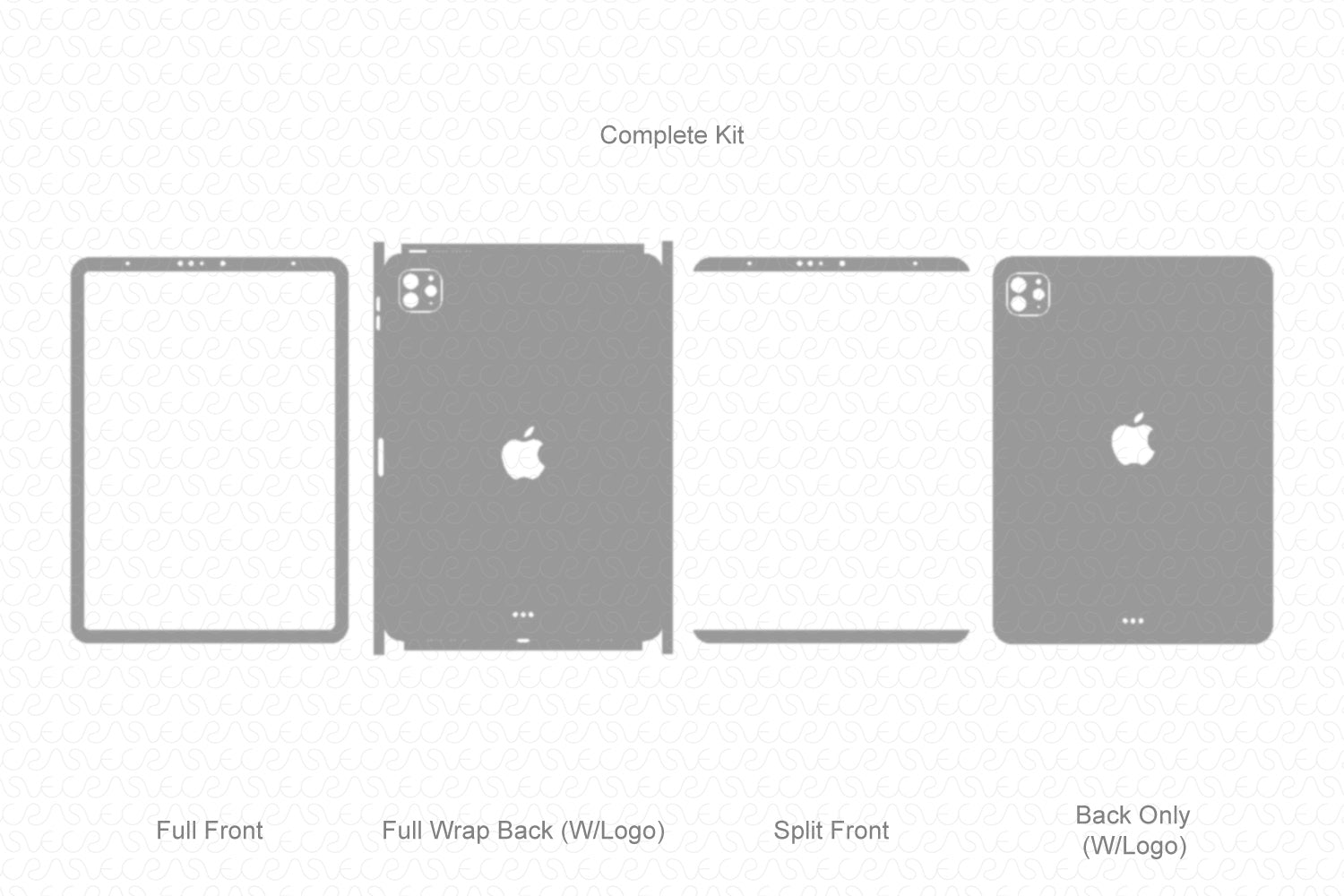 iPad Pro 11-inch Skin Template Cut File 2020