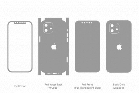 iPhone 12 Mini (2020) Skin Template Vector