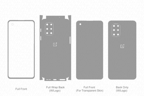 OnePlus 8T Skin Template Vector 2020