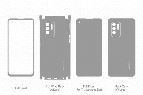 Oppo F19 Pro Plus Skin Template Vector 2021