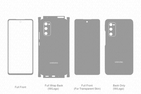 Galaxy S20 FE Skin Template Vector 2020