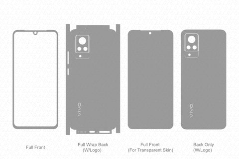 Vivo V21 Skin Template Vector 2021