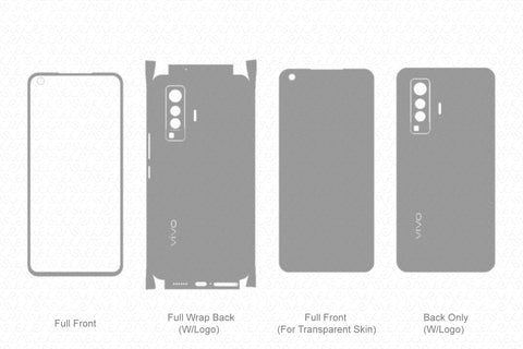 Vivo X50 Skin Template Vector 2020