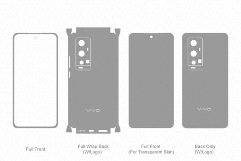 Vivo X60 Pro Plus Skin Template Vector 2021