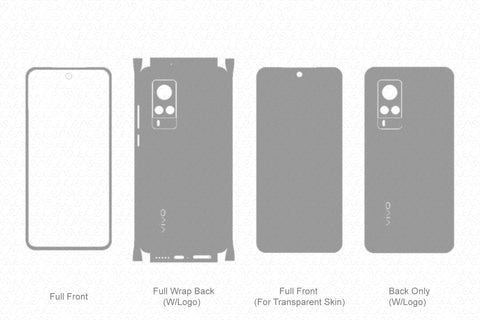 Vivo X60 Skin Template Vector 2021