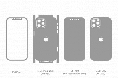 iPhone 12 Pro (2020) Skin Template Vector