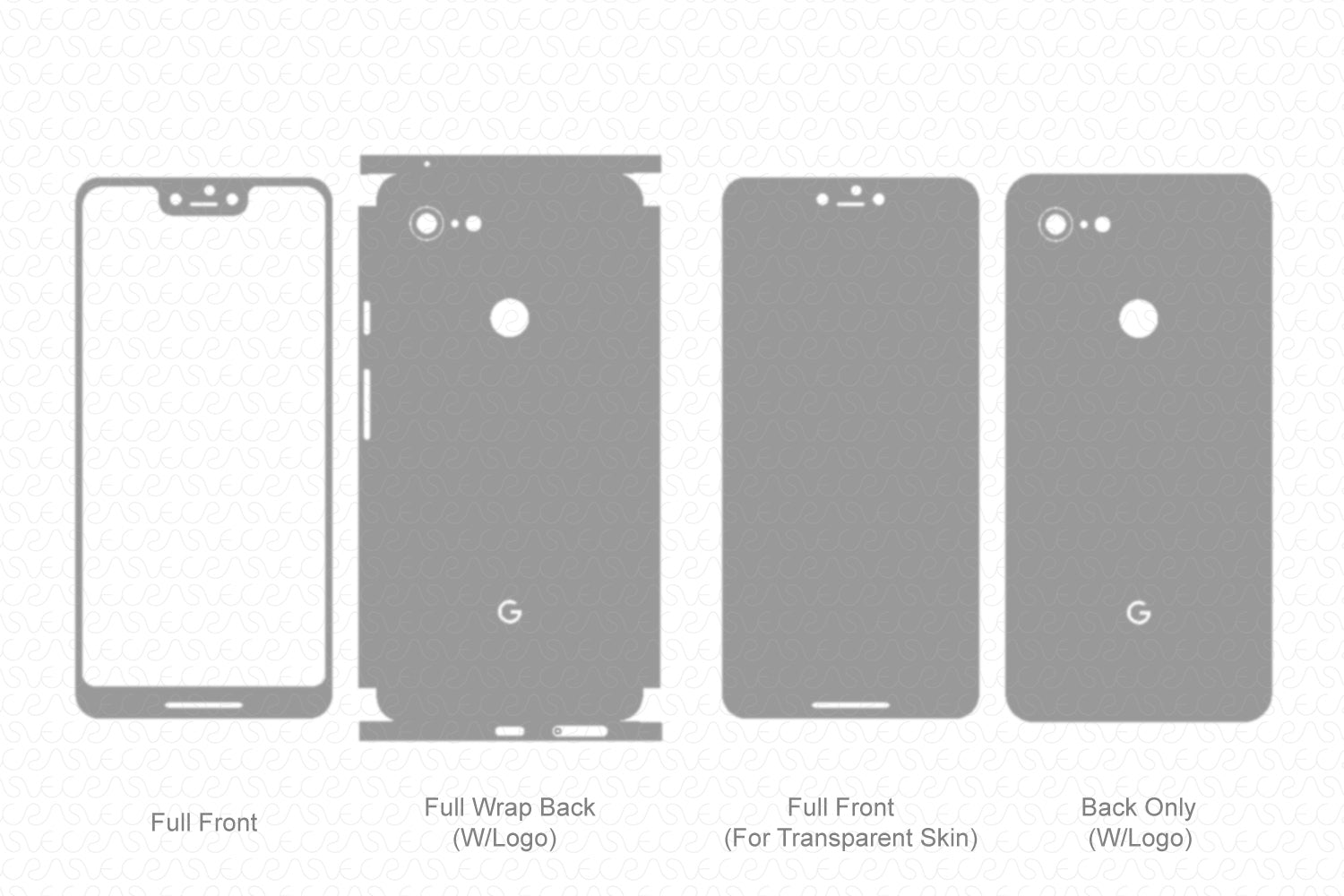 Pixel 3 XL (2018) Skin Template Vector