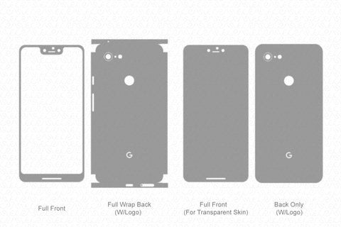 Google Pixel 3 XL Skin Template Vector 2018