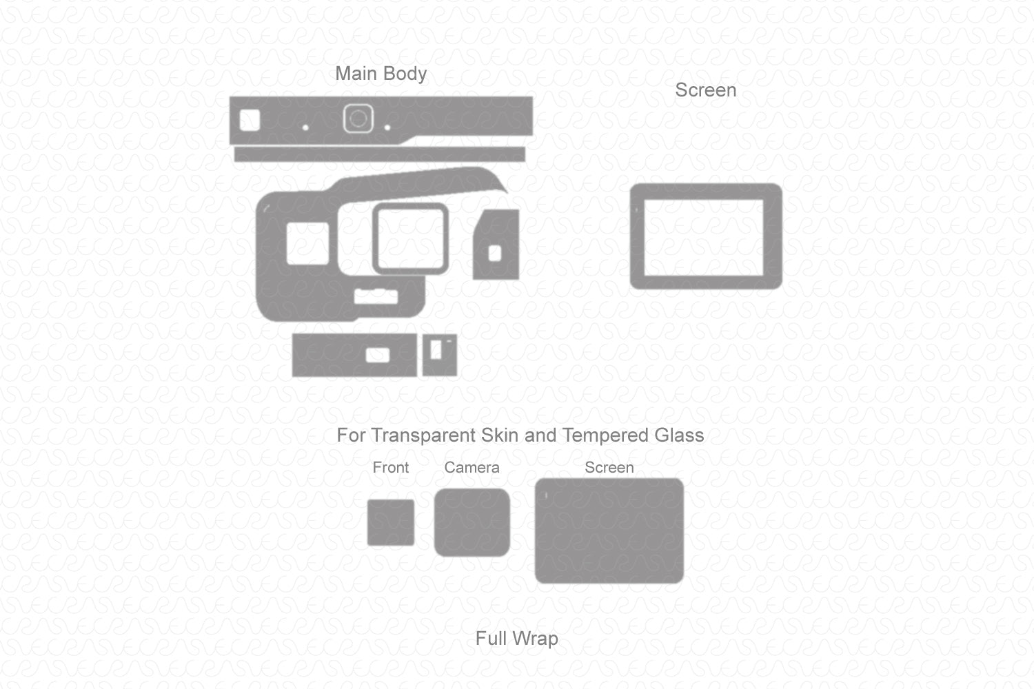 Gopro Hero 5 Skin Template Vector 2016