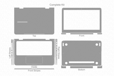HP Spectre Pro X360 G2 (2017) Skin Template Cut File