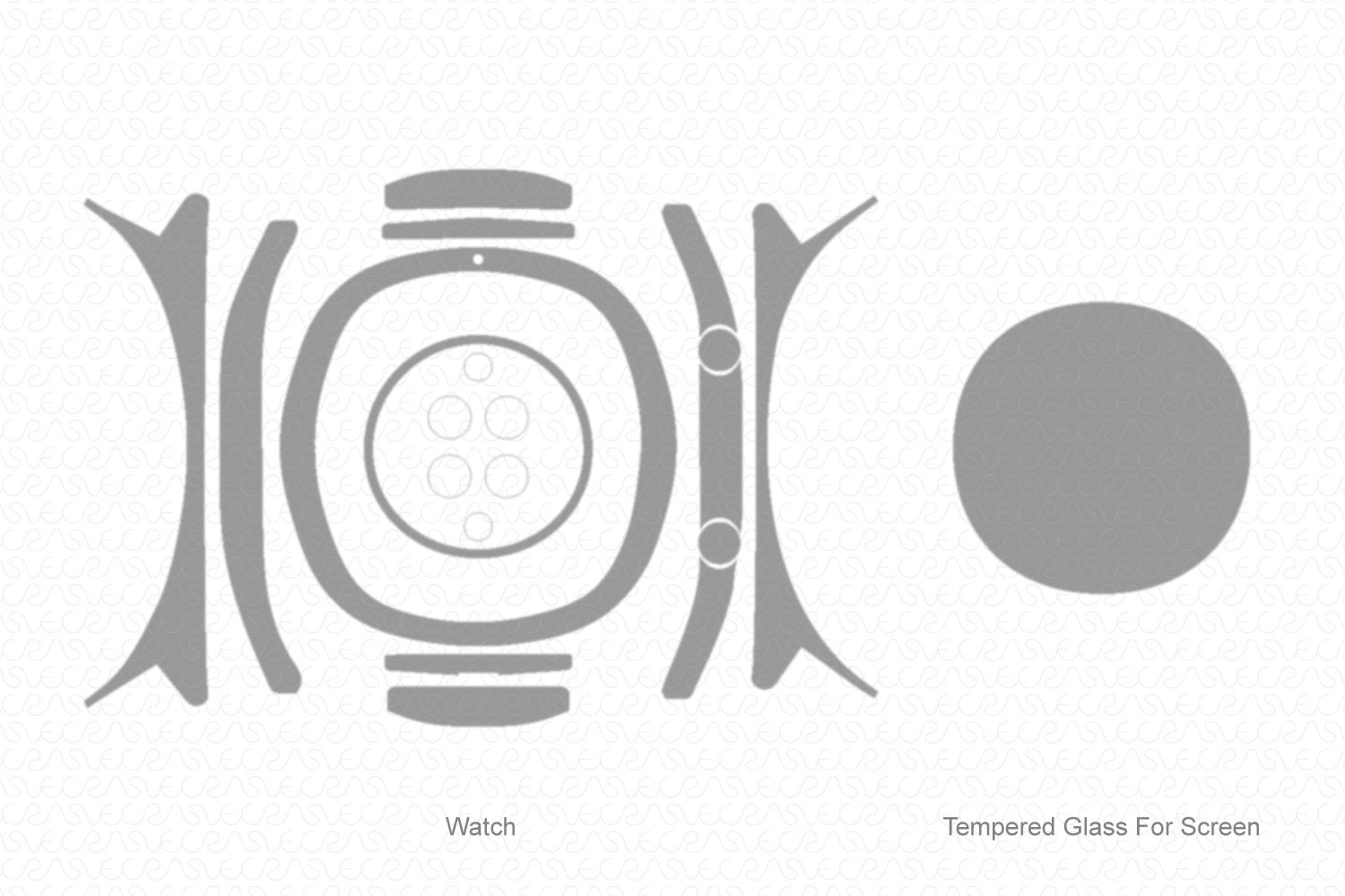 Huawei Watch GT (2019) Skin Cutting Template