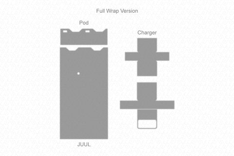 JUUL Device 2017 & USB Charger Wrap Template Cut File