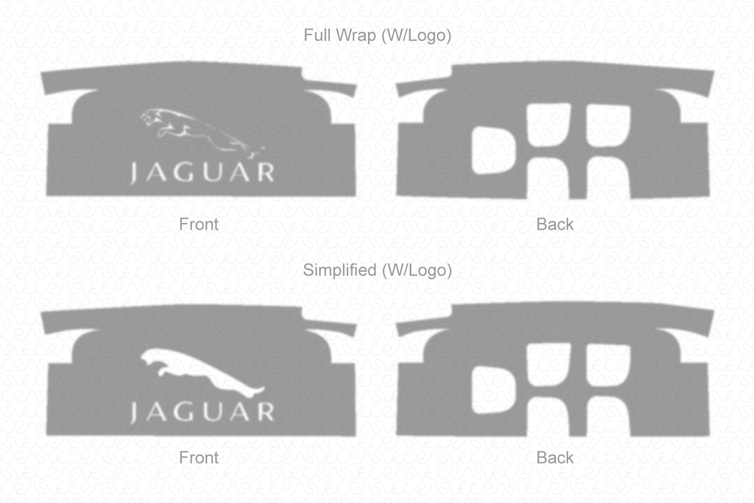 Jaguar XF Smart Key 2014 Wrap Template Cut File