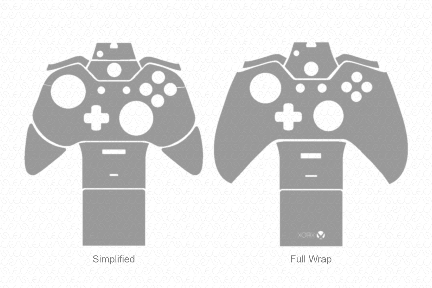 Xbox One Gaming Controller (2014) Vector Cut File Template