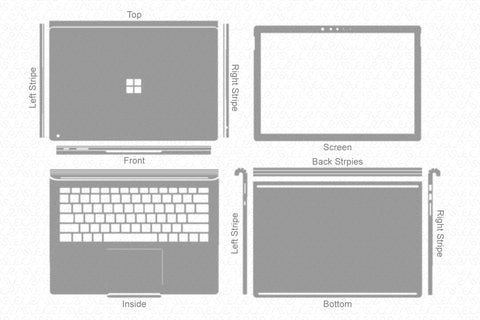 "Surface Book 2- 13.5"" (2017) Skin Template Cut File"