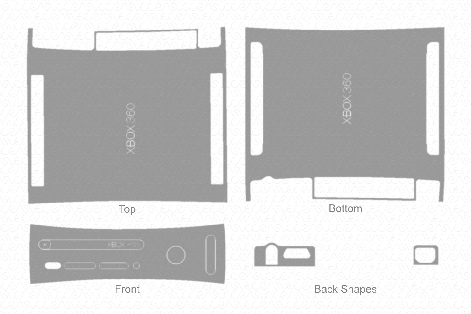 Xbox 360 Original (Arcade) 2007 Vector Cut File Template