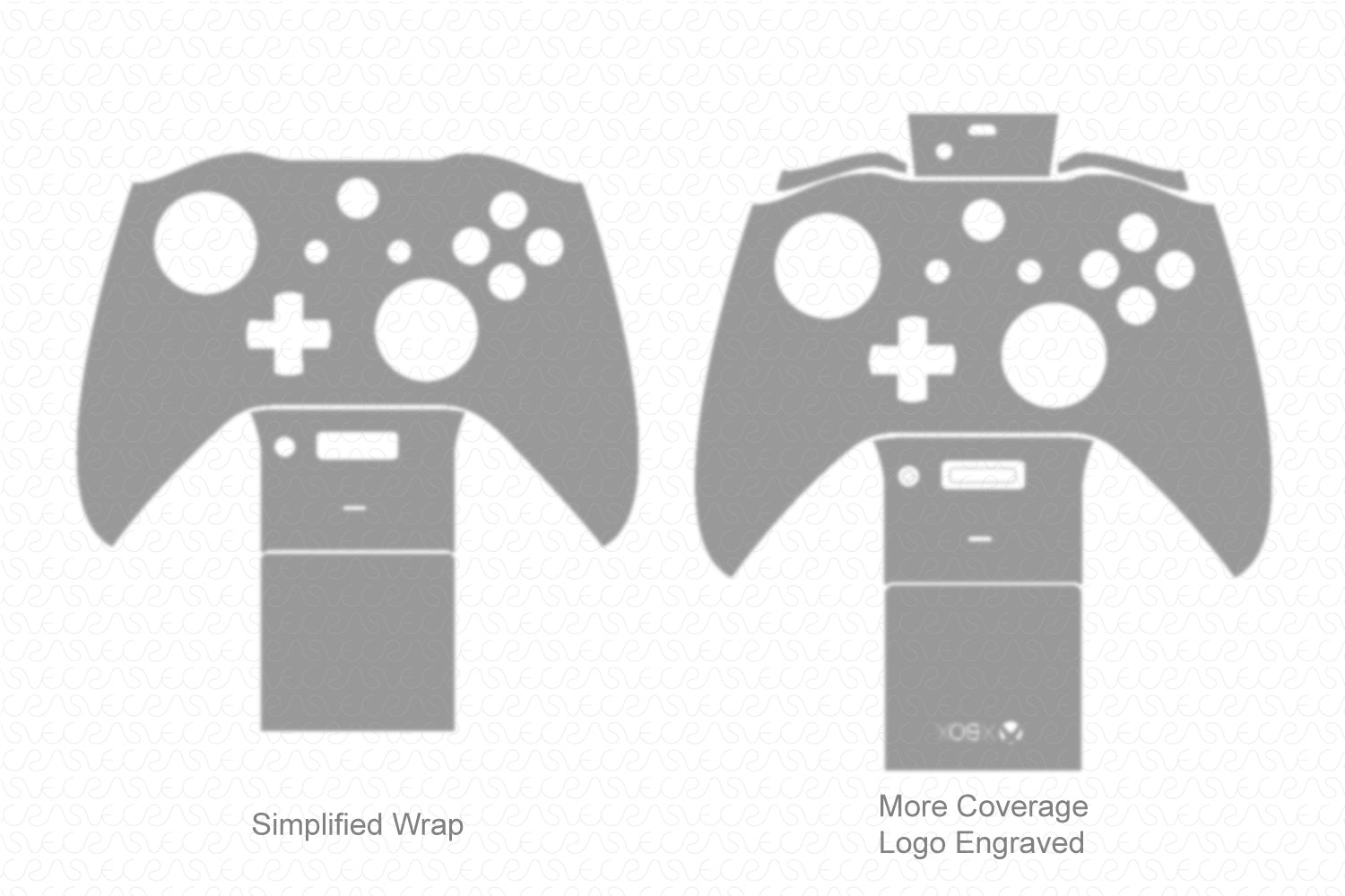 Xbox One S Gaming Controller (2016) Vector Cut File Template