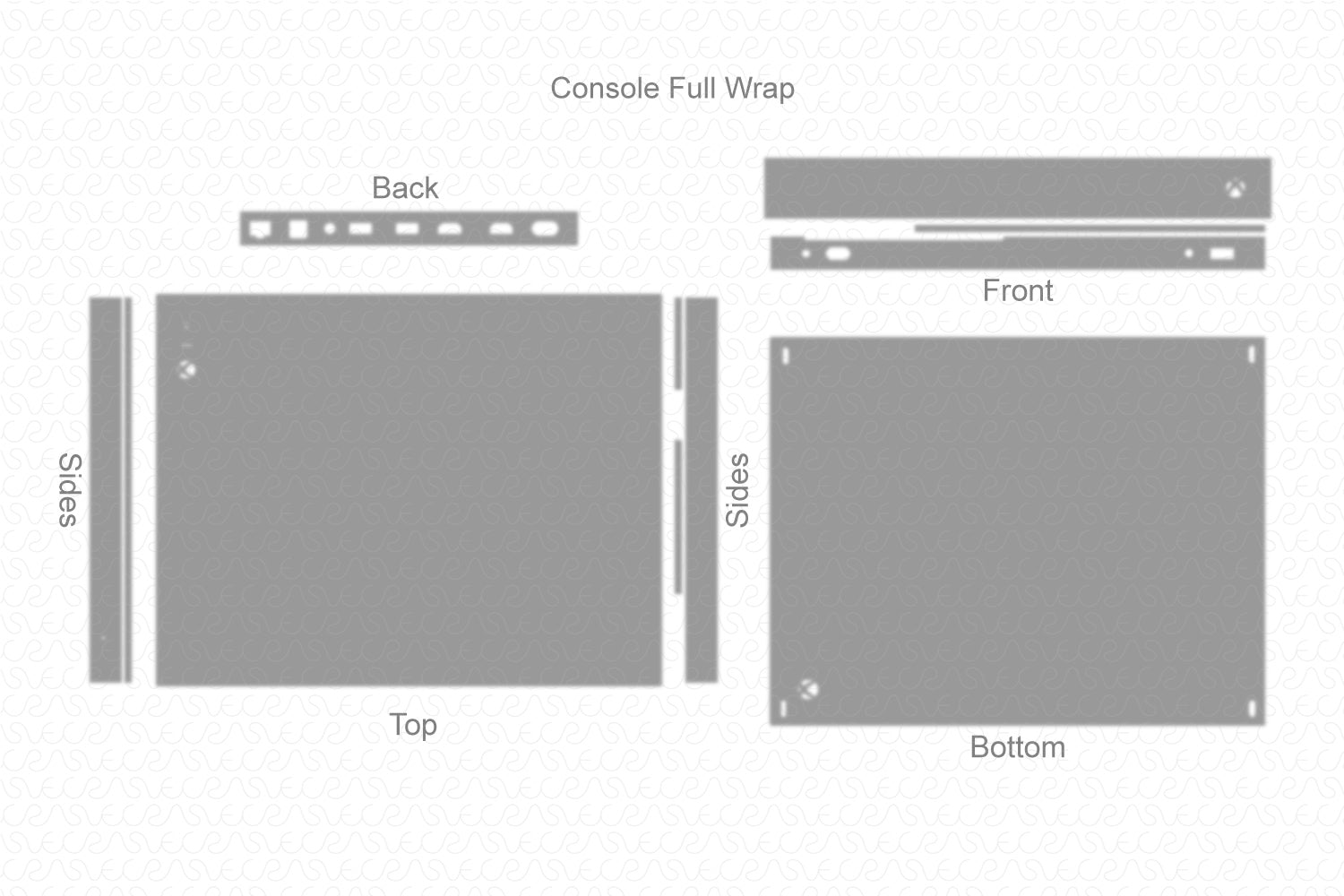 Xbox One X Console & Controller (2017) Vector Cut File Template