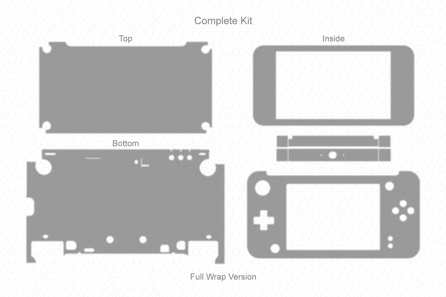 Nintendo 2ds XL Handheld Gaming Console (2017) Vector Cut File Template