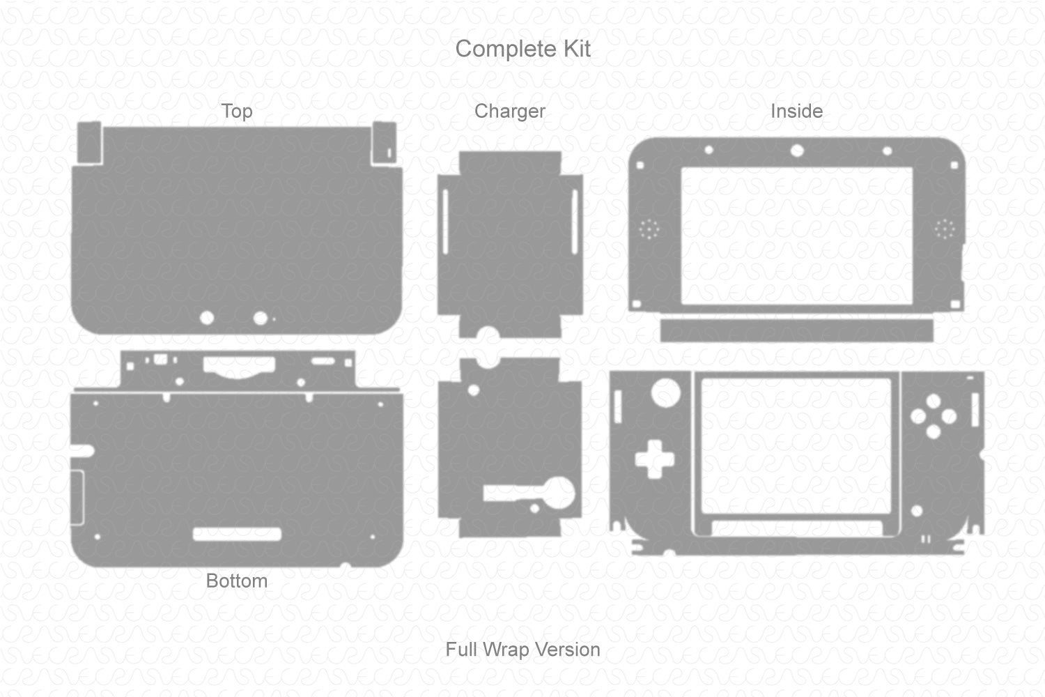 Nintendo 3ds XL (2011) Vector Cut File Template