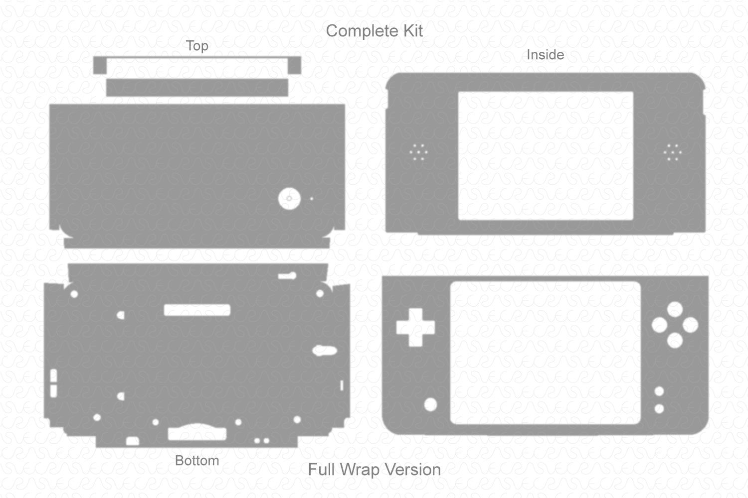 Nintendo dsi XL Handheld Gaming Console (2009) Vector Cut File Template
