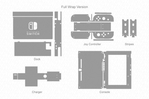 Nintendo Switch Gaming Bundle (2017) Vector Cut File Template