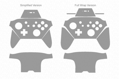 Nintendo Switch Pro Controller (2017) Vector Cut File Template