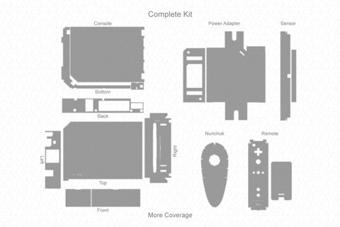 Nintendo Wii (2006) Vector Cut File Template