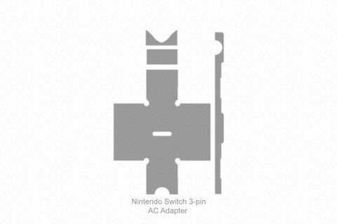 Nintendo Switch 3-pin AC Adapter 2017 Wrap Template Cut File