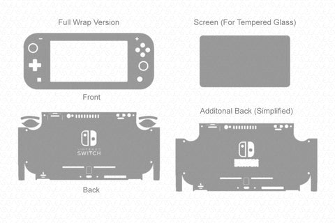 Nintendo Switch Lite 2019 Vector Cut File Template