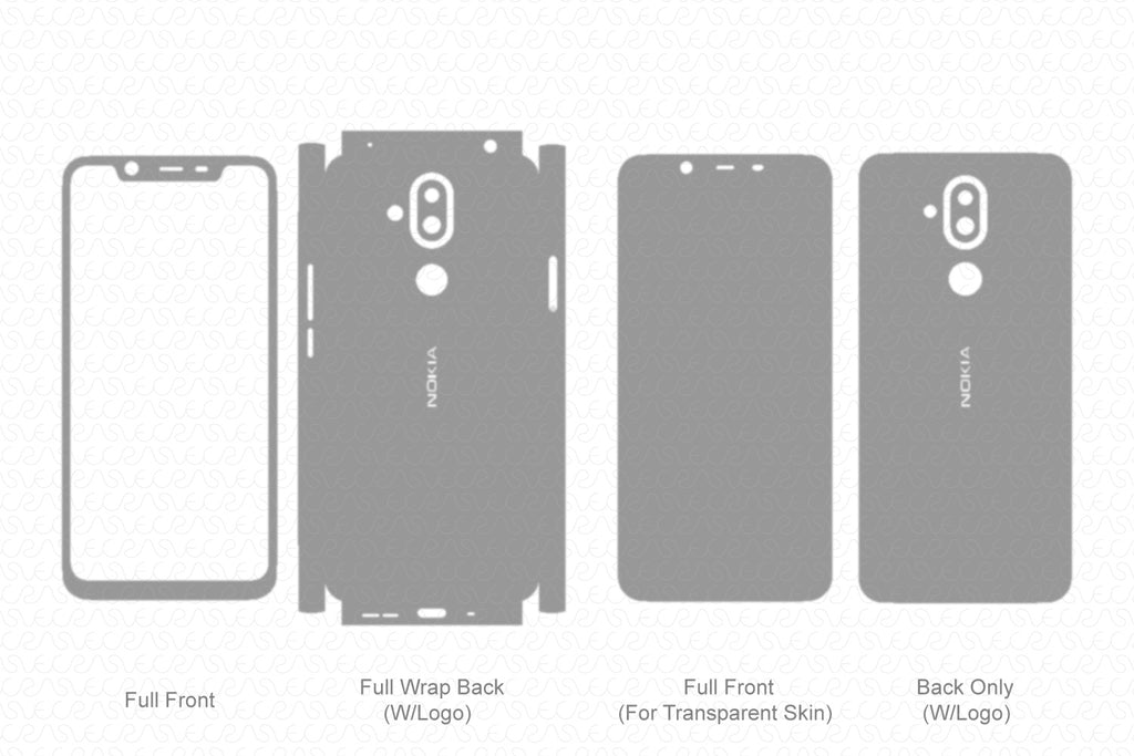 Vinyl Ready Vector Cut File Templates for Phone Skins in Ai and CDR