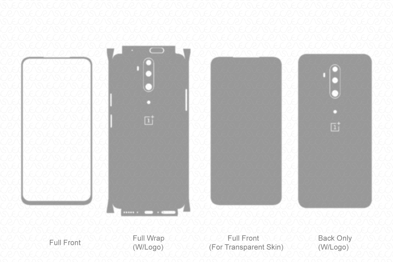 OnePlus 7T Pro (2019) Skin Template Vector