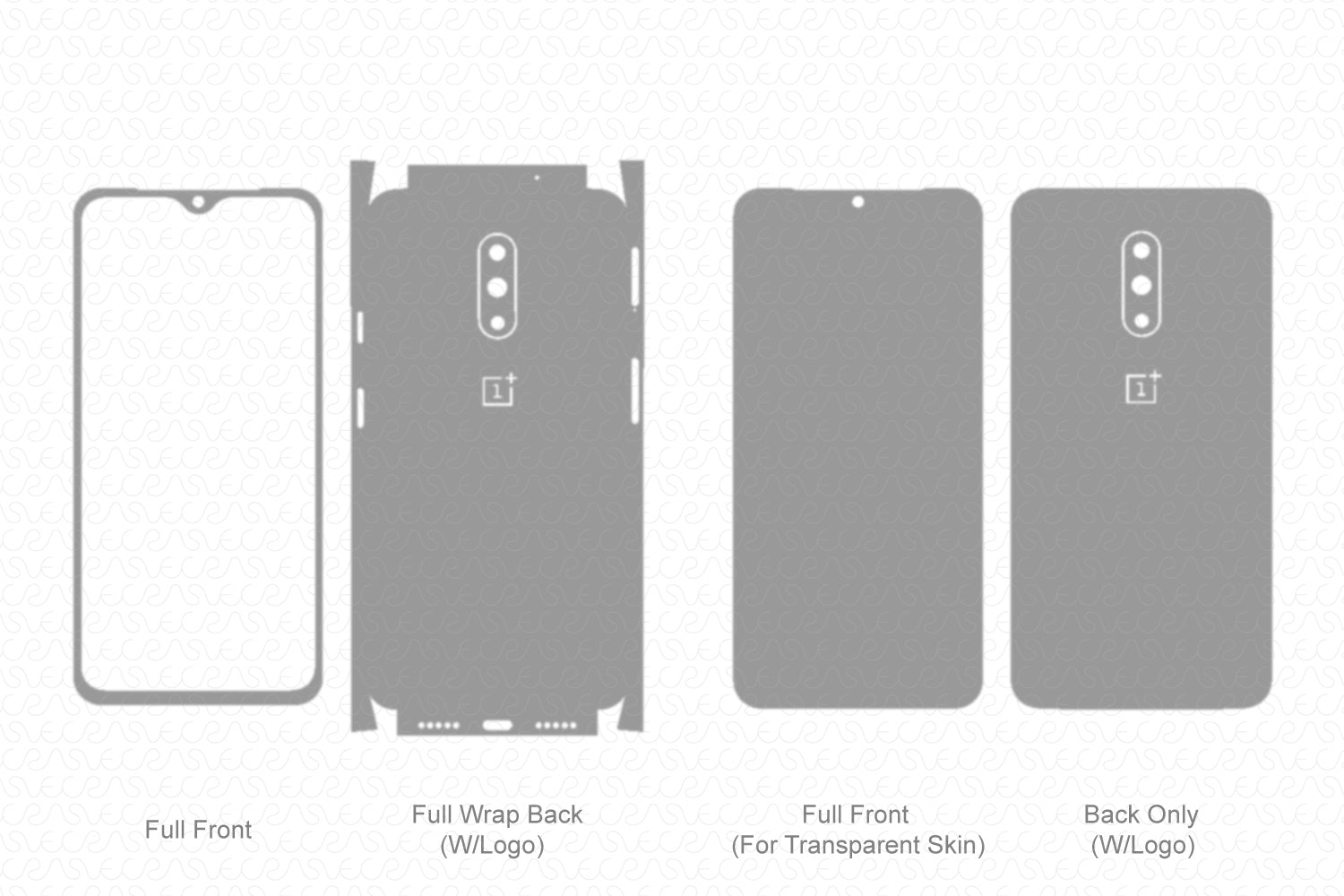 OnePlus 7 (2019) Skin Template Vector