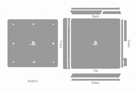 Sony PS4 Slim Gaming Console (2016) Vector Cut File Template