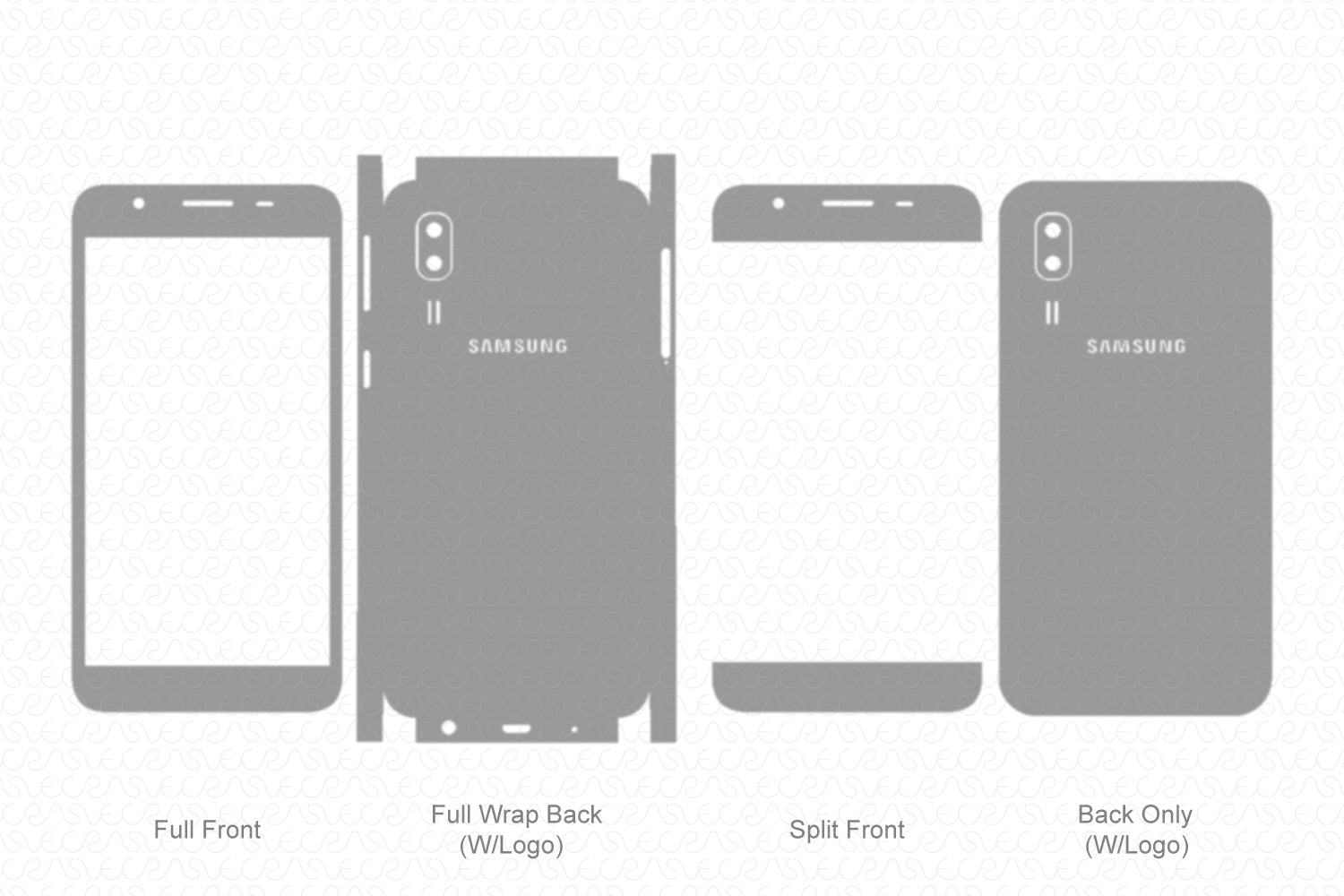 Galaxy A2 Core (2019) Skin Template Vector