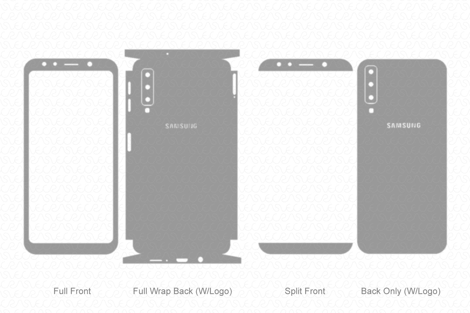 Galaxy A7 (2018) Skin Template Vector