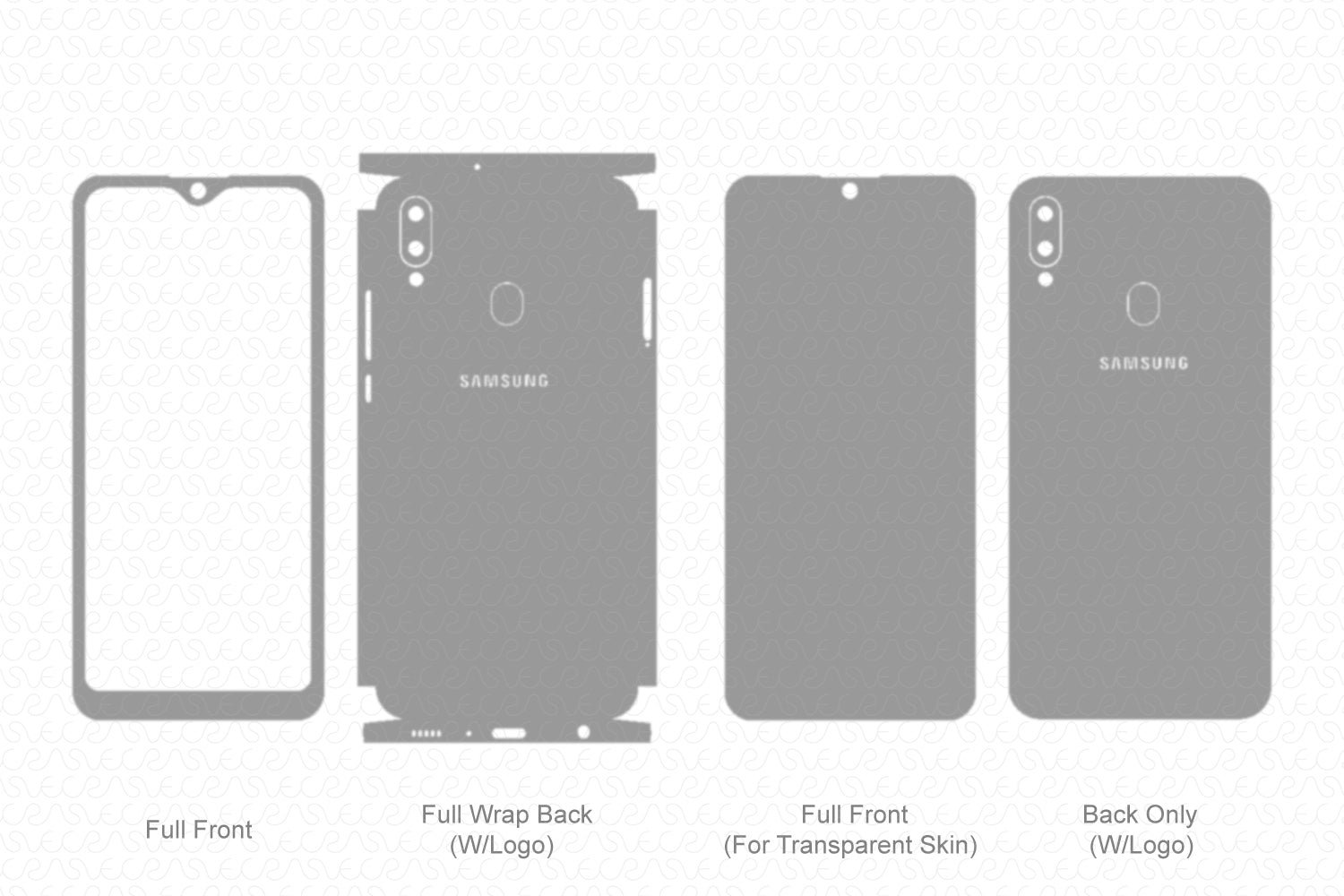 Galaxy M20 (2019) Skin Template Vector